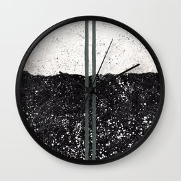 Stone and Splatter Wall Clock