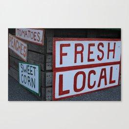 Eat Local Canvas Print
