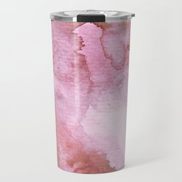 Watercolor pattern red Travel Mug