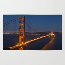 Golden Gate At Night Rug