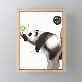 Pandamie: Sleeping Panda Framed Mini Art Print