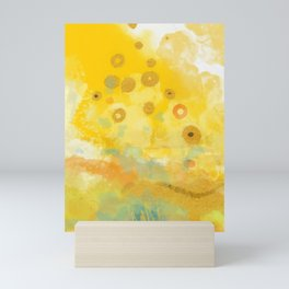 Abstract autumn with gold and warm light Mini Art Print