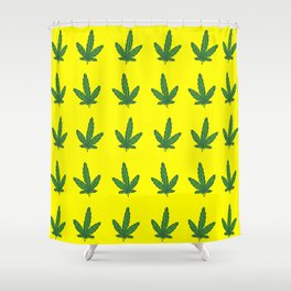 printed mariahuana Shower Curtain