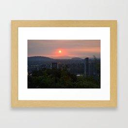City Waking Framed Art Print