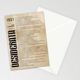 Desiderata by Max Ehrmann - Typography Print 09 Stationery Cards