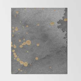 Gray and gold Throw Blanket