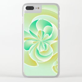 Irregular floral shapes Clear iPhone Case