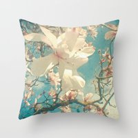 once upon a  time Throw Pillows featuring Once Upon a Time by Cassia Beck