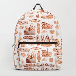 Watercolor Baguettes Backpack