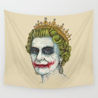 joker Wall Tapestries featuring God Save the Villain! by Enkel Dika