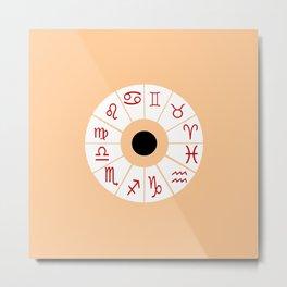 The twelve signs of the zodiac 2 Metal Print