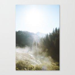 Steamy Colorado Sunrise Canvas Print