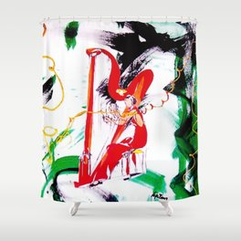 The Harpist            by Kay Lipton Shower Curtain