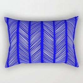 Cobalt Herringbone 2 Rectangular Pillow