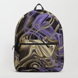 Gold & Ultra Violet Liquid Marble Love Backpack