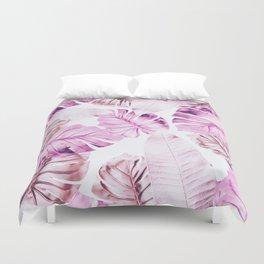 Pastel Monstera pattern Duvet Cover