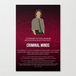 Criminal Minds - Reid Canvas Print