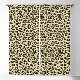 Leopard Print Brown Blackout Curtain