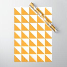 Geometric Pattern 01 Yellow Wrapping Paper