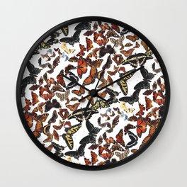 Butterflies of Maine Pattern Wall Clock