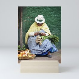 Vegetable and Fruit vendor, Cuenca, Ecuador Mini Art Print
