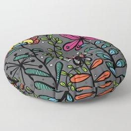 Weird and wonderful (Garden) - fun floral design, nature, flowers Floor Pillow