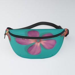 """""""Coral, pink & orange Violets over a teal background"""" Fanny Pack"""