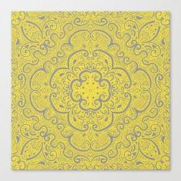 Illuminating Yellow & Ultimate Gray Pattern Canvas Print