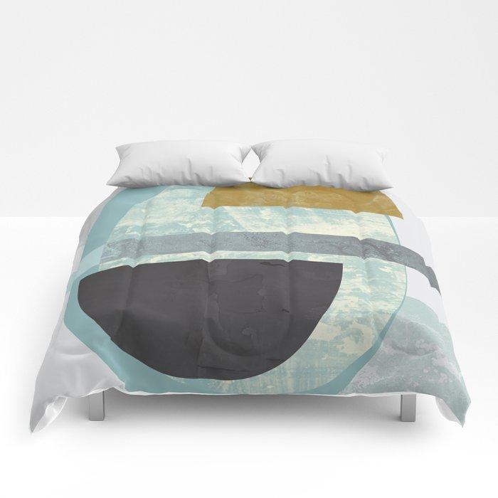 Pastel colours print Comforters