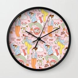 Kabuki Tribe Wall Clock