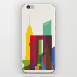 Shapes of Mexico City accurate to scale iPhone Skin