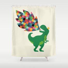 Rainbow Power Shower Curtain