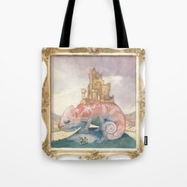 Camelot on a Chameleon Tote Bag