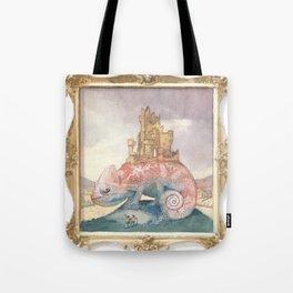 Camelot on a Chameleon Tote Bag
