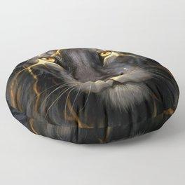 LION-GOLD-ART Floor Pillow