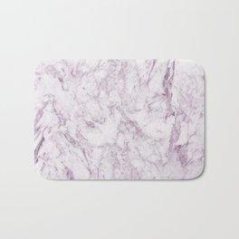 Elegant modern vintage white lilac violet marble Bath Mat