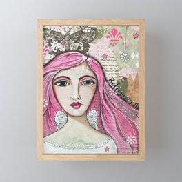 Believe in Your Own Magic Mixed Media Fairy Girl Framed Mini Art Print