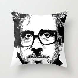 Tim Burton in colors by burro Throw Pillow