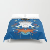 dragons Duvet Covers featuring Trained Dragons by Ashley Hay
