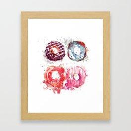 Donuts love Framed Art Print