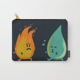 Impossible Love (fire and water kiss) Carry-All Pouch
