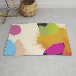 la vie en rose  art abstract minimal Rug