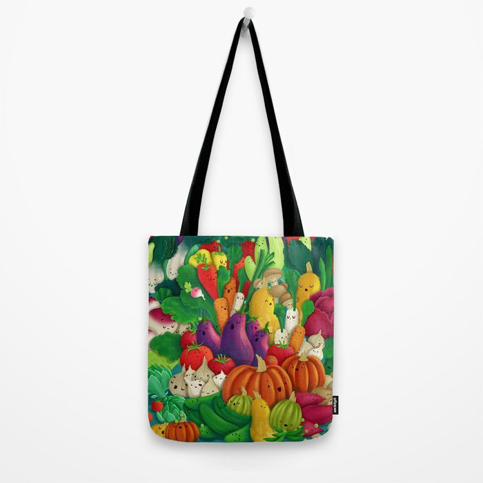 Nice People Eat Vegetables - background (Made with Danny Ivan) Tote Bag