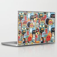 arctic monkeys Laptop & iPad Skins featuring Two monkeys in town by Exit Man