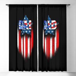 DAD American Hero Stars Stripes Blackout Curtain