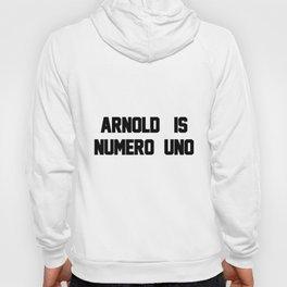 Arnold Is Numero Uno Mens RINGER Retro Birthday Gift birthday Hoody