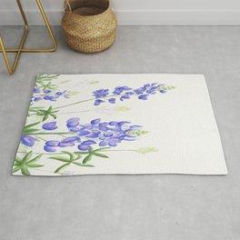 Bluebonnet Watercolor Rug
