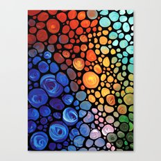 Abstract 1 - Beautiful Colorful Mosaic Art by Sharon Cummings Canvas Print