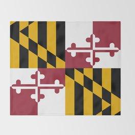 Maryland State Flag, Hi Def image Throw Blanket