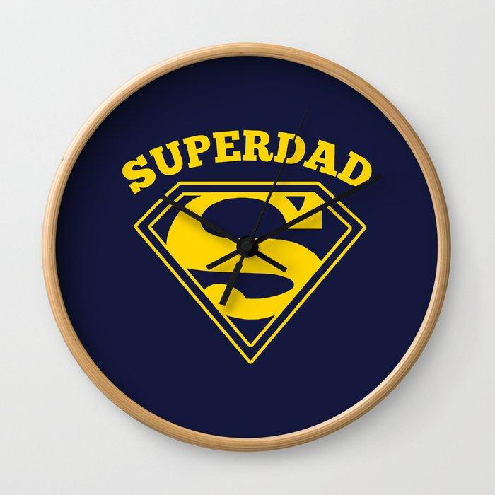 Superdad   Superhero Dad Gift Wall Clock